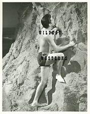 Vintage Original Elvis Presley Unpublished Candid Photo Shirtless & Tight Shorts