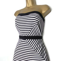 JANE NORMAN Dress Size 12 Wiggle Pencil Bodycon Party Striped Illusion Cocktail