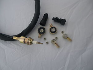 """MGF &  MG TF GEAR CABLE """"REPAIR KIT"""" 4 BOTH CABLES CONNECTORS - NUTS and GAITERS"""