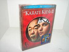 The Karate Kid I & II (Blu-ray Disc, 2010, 2-Disc Set) PART 1 & 2 !!   ***NEW**