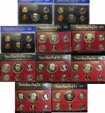 Proof set 1970 - 1978 Proof set run - 9 box lot - US MINT - (OGP)