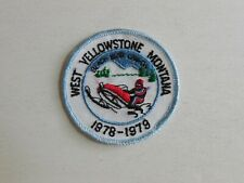 West Yellowstone Montana 1978-1979 snowmobile sew-on patch vintage