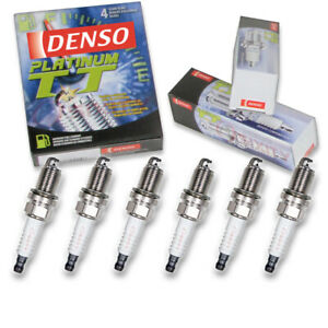 6 pc Denso Platinum TT Spark Plugs for 2002-2003 Saturn Vue 3.0L V6 Ignition mj