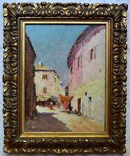 """NATTERO Louis (1875-1915) """"Rue animée à Marseille"""" Provence Toulon Mediterranée"""