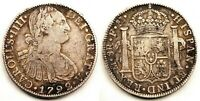 Spain-Carlos IV. 8 Reales. 1792. Mexico. Plata. 26,6 g. Escasa asi