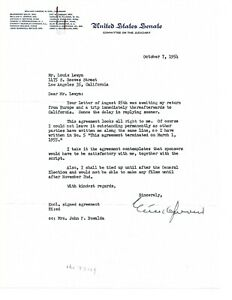 Estes Kefauver 1954 typed letter as Senator of Tennessee