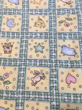 3 Yards Gender Neutral Baby Nursery Cotton Flannel Fabric~Green/Yellow