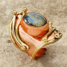 New Tara Mesa Labradorite Knuckle Ring ~ Size 7 Adjustable