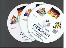 Learn to Speak GERMAN a complete Mp3 & PDF course of 90+ lessons - 3 Mp3 CDs
