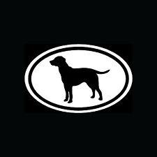 Lab Labrador Retriever White Oval Sticker Dog Breed Puppy Vinyl Decal Cute Car