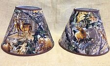 Set of 2 Camo Deer Bear Center Animal Varies Handmade Lampshade Lamp Shade