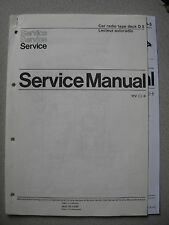 PHILIPS d5 Autoradio Tape Deck Service Manual incl. d5-5, d5-7 U. werkst. info