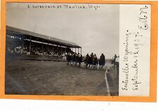 Real Photo Postcard RPPC - Horse Race Rawlins Wyoming