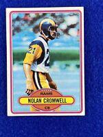 1980 Topps Nolan Cromwell Football Card #423 Los Angeles Rams
