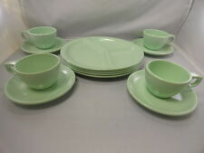 Vintage Melamine Melmac Boonton Dinnerware Spring Lime Green (12pcs)