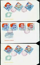 1964 Gagarin,Russian & American Cosmonauts,Space,Flags,Romania,2248,IMPERF.,FDC