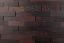 Wandverkleidung 3D Echtholz  |Wenge | wodewa Holzwand Paneele Wandgestaltung