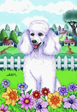 Outdoor Garden Flag Poodle Dog Breed Spring Colors Small Flag made Usa