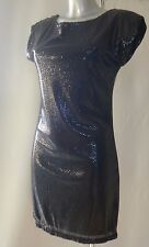 GLAM BY CAPRICE Black Sequin Dress UK Size 8 NEW TAGS