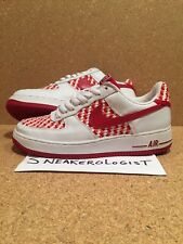 NIKE AIR FORCE 1 PREMIUM SZ 9 drum island red orange woven low 2005 le prm