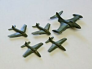 Vintage Lot of 5 Payton? USAF Toy Plastic Airplanes Assorted Sizes Green