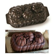 Nordic Ware Botanical Pumpkin Loaf Pan Fall Harvest Bronze Bakeware 88548