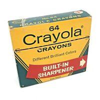 RARE Crayola Crayons W/ Sharpener Binney & Smith 64 GUC Vintage 1966 INDIAN RED