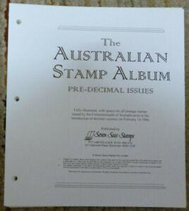 SEVEN SEAS AUSTRALIA PRE-DECIMAL 1913-1965 HINGELESS STAMP ALBUM PAGES ONLY