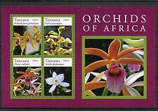 Tanzania 2014 Mnh orquídeas de África 4v m/s Ii Flores Flora Bulbophyllum phaius