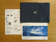 Peugeot Partner/Partner Tepee Owners Handbook Manual and Wallet 14-18