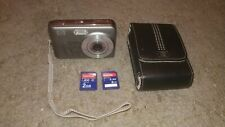 HP PhotoSmart M737 8.0MP Digital Camera Silver - With Case - 2x 2GB SD Cards