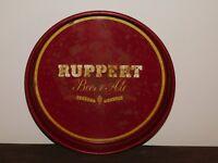 """VINTAGE BAR 13 1/4"""" ACROSS RUPPERT BEER & ALE  METAL SERVING TRAY"""