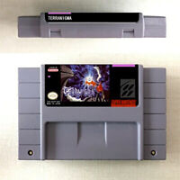 New Terranigma Game Card Console For Nintendo SNES US Version 16 Bit English