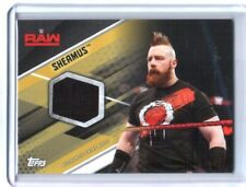 WWE Sheamus 2017 Topps Then Now Forever Gold Event Used Shirt Relic Card SN 7/10