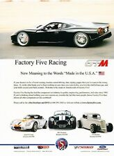 2007 Factory Five Racing GTM  Original Advertisement Print Art Car Ad J654