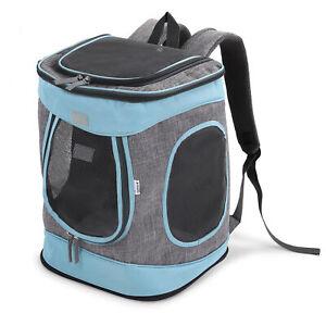Rucksack für Katze gepolstert Katzenrucksack Haustier 15kg Navaris