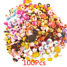 100Pcs Fast food Cream Cake Charms Cellphone Cover Resin Toy Collection Gift