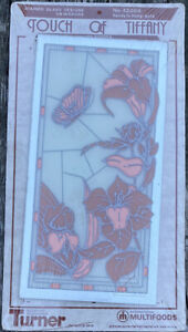 """Vtg Turner Decorative Acc Touch of Tiffany Stained Glass Design on Mirror 8 x12"""""""