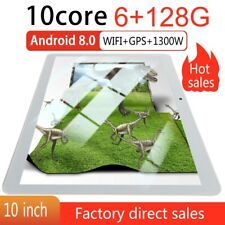 10inch Android OS 8.0 Tablet PC 6+128GB G-Sensor GPS 2 SIM Camera Wifi Phablet