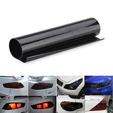 12in x 24in Smoke Black Tint Film Fog Headlights Tail light Car Vinyl Wrap Sheet