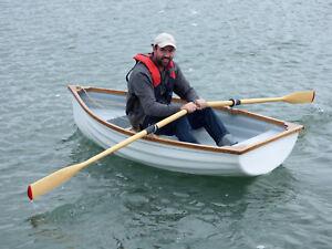 Fibreglass & Oak 7' Rowing Boat