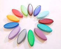 26 PRECIOSA Boehmisches Glasperlen Flachoval Mix Farbe 20mm Perlenset R141