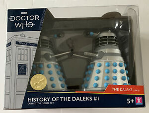 DR DOCTOR WHO HISTORY OF THE DALEKS # 1 - FIGURE SET- Limited Edition - New