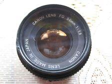 Canon FD 50mm 1:1.8 Lens & Hoya Skylight Filter