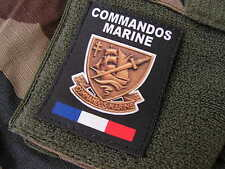 SNAKE PATCH - COMMANDOS MARINE - FRANCE FORCES SPECIALES - COS noir