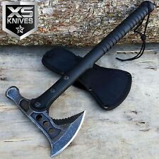 "15"" STONEWASHED Hunting TOMAHAWK BATTLE HATCHET THROWING AXE w/ HAMMER Camping"