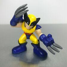 Marvel Super Hero Squad WOLVERINE figure blue & yellow X-Men costume