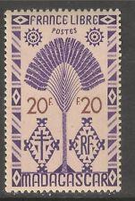 Madagascar (French) #254 (A16) VF MINT LH - 1943 20fr Traveler's Tree