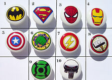 1 (ONE) SUPER HERO SUPERHERO BOYS GIRLS DRESSER DRAWER KNOBS ASSORTED