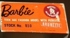 *Vintage 1959-60 Brunette Barbie #2 Or #3 Ponytail #850 Original Box-View Pics